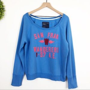 AEO | San Francisco Wanderers Spellout Pullover XL